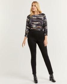 High Rise Black Denim Pull On Jeggings - Tall
