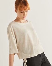Dolman Sleeve Tee with Side Ties
