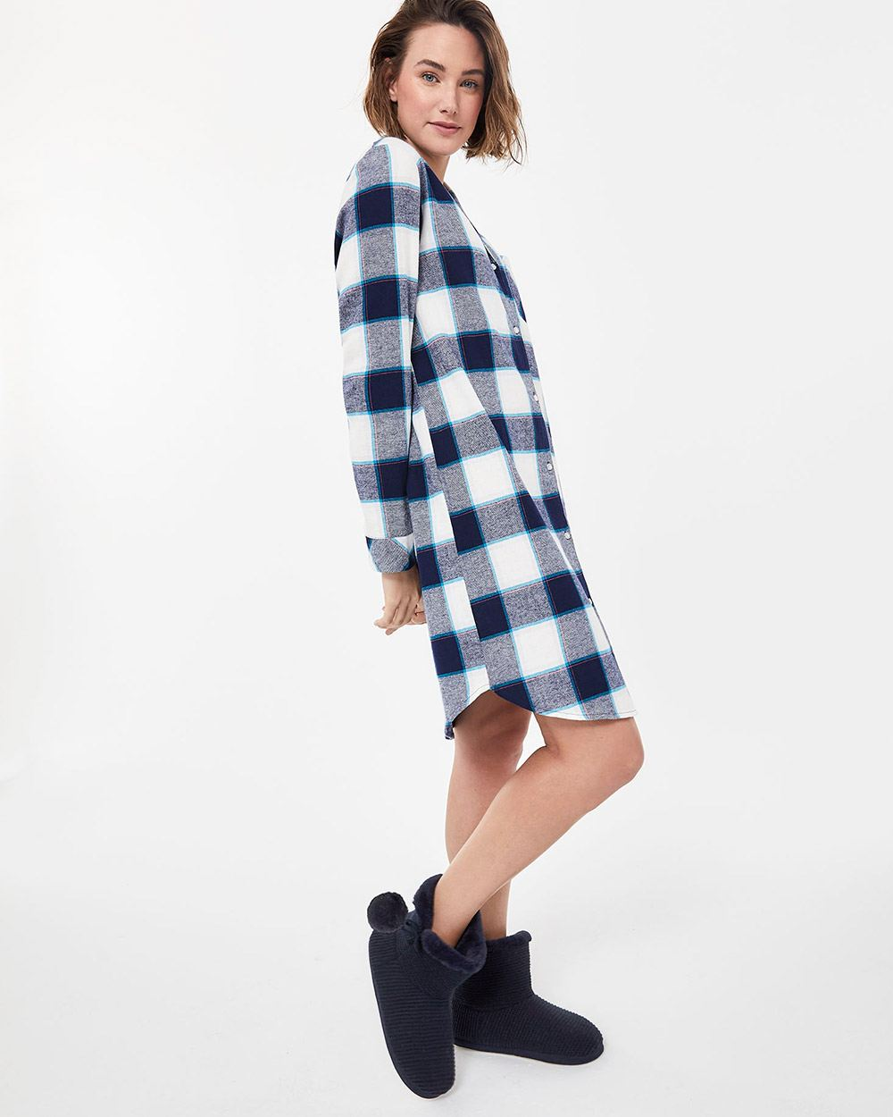 Plaid Flannel Sleepshirt