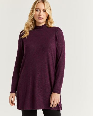 Long Sleeve Mock Neck Tunic