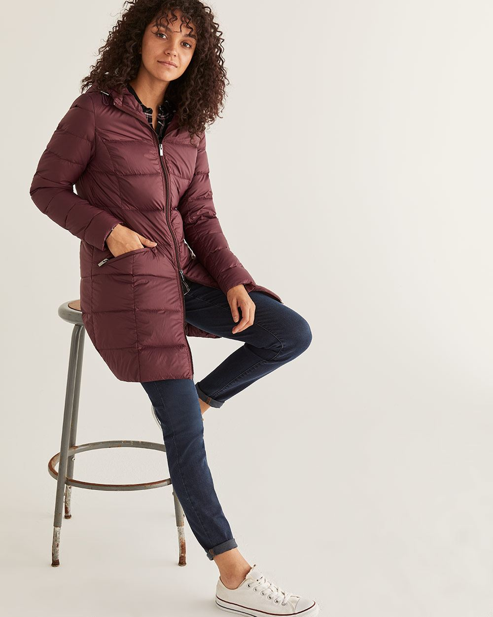 Long Lightweight Down Jacket