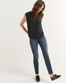 The Signature Soft Skinny Mid-Wash High Waist Jeans