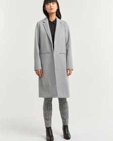 Long Coat with Snap Closure