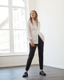 The Iconic Textured Pull On Ankle Pants