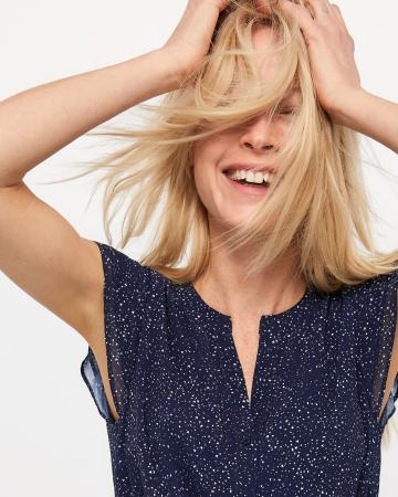 Elastic Waist Printed Dress