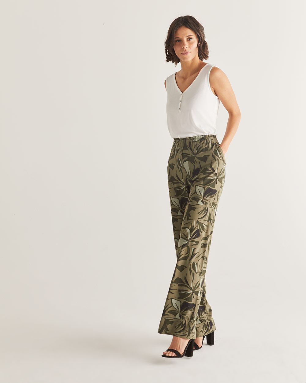 Printed Wide Leg Pants