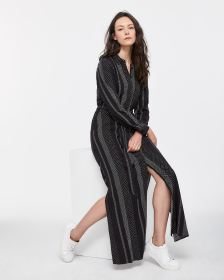 Sash Maxi Shirt Dress