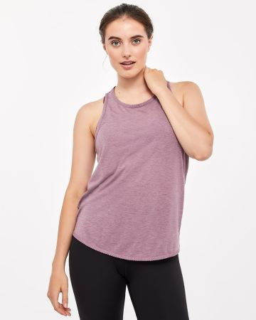 Hyba Twisted Back Scalloped Hem Tank Top