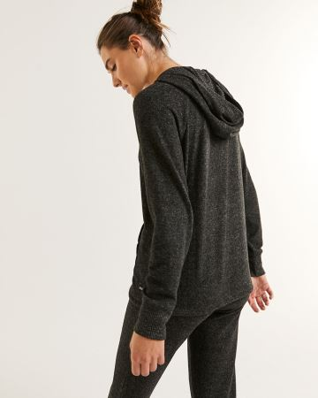 Long Sleeve Hooded Top with Kangaroo Pocket Hyba