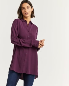 Long Sleeve Jacquard Tunic