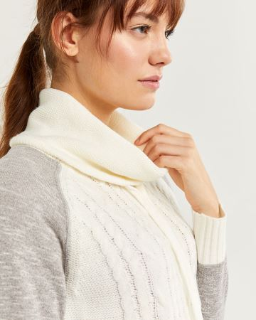 Hyba Mix Media Cowl Neck Sweater