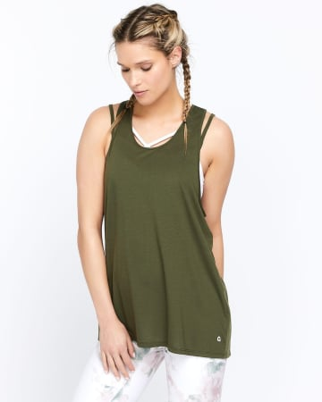 Hyba Printed Tank Top with Open Wrap Back