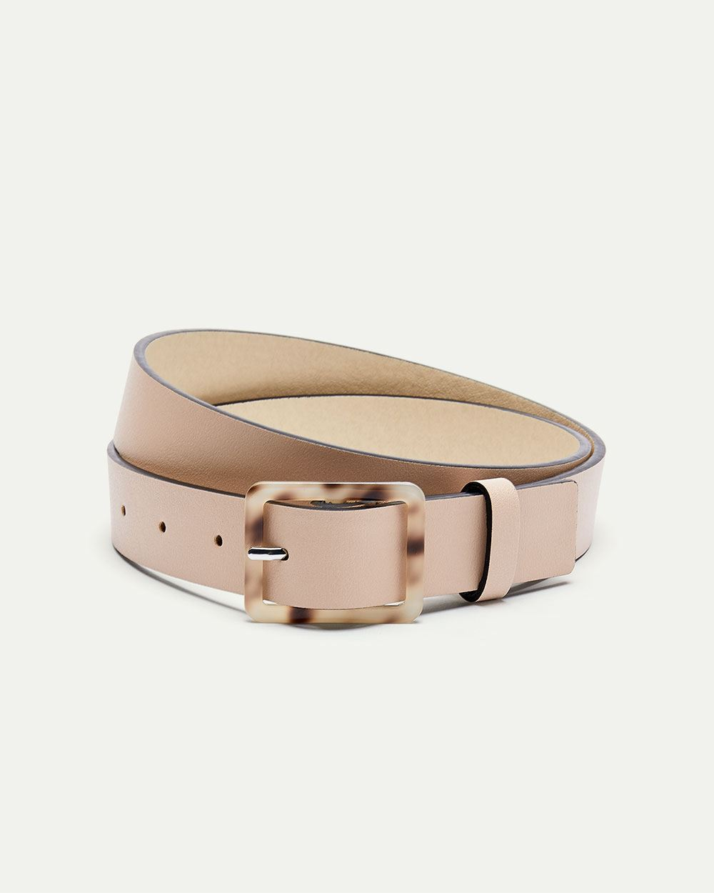 Pink Belt with Tortoise Buckle