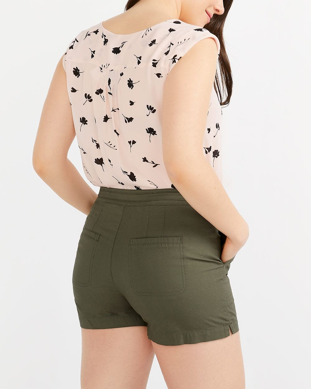Poplin Shorts with Zip