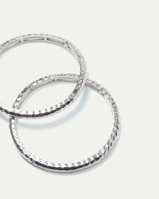 2-Piece Hammered Bracelets