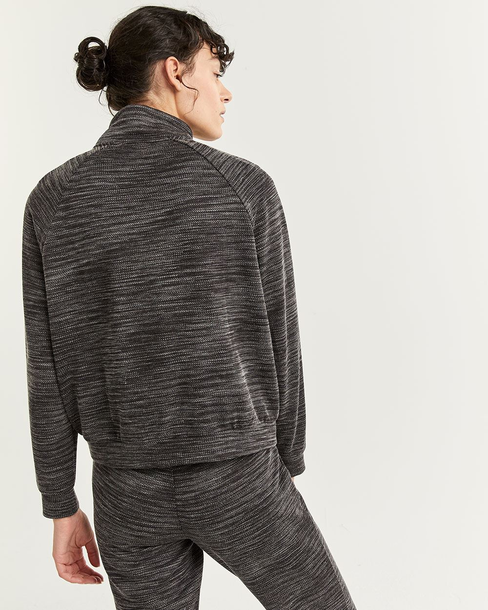 Mock Neck Sweatshirt with Kangaroo Pocket Hyba