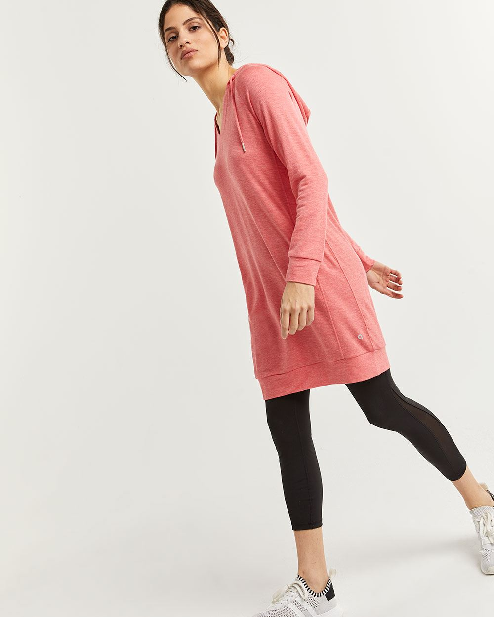 Hooded V-Neck Dress Hyba
