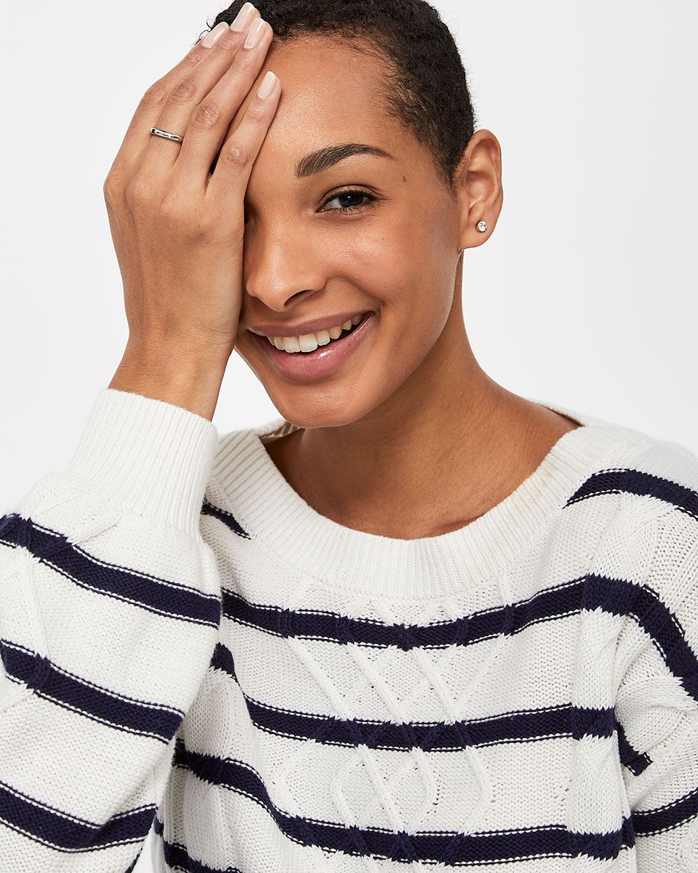 Ballon Sleeve Stripe Sweater