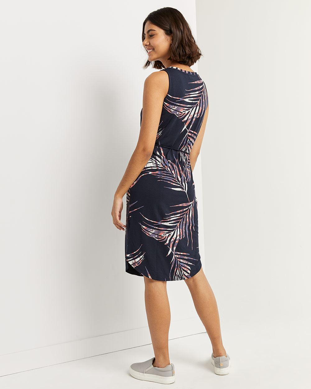 Shift Printed Sleeveless Midi Dress