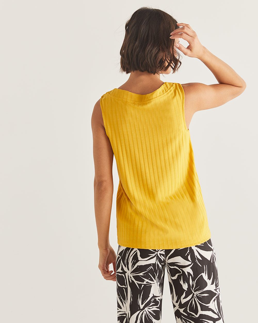 Asymmetric Button Tank Top