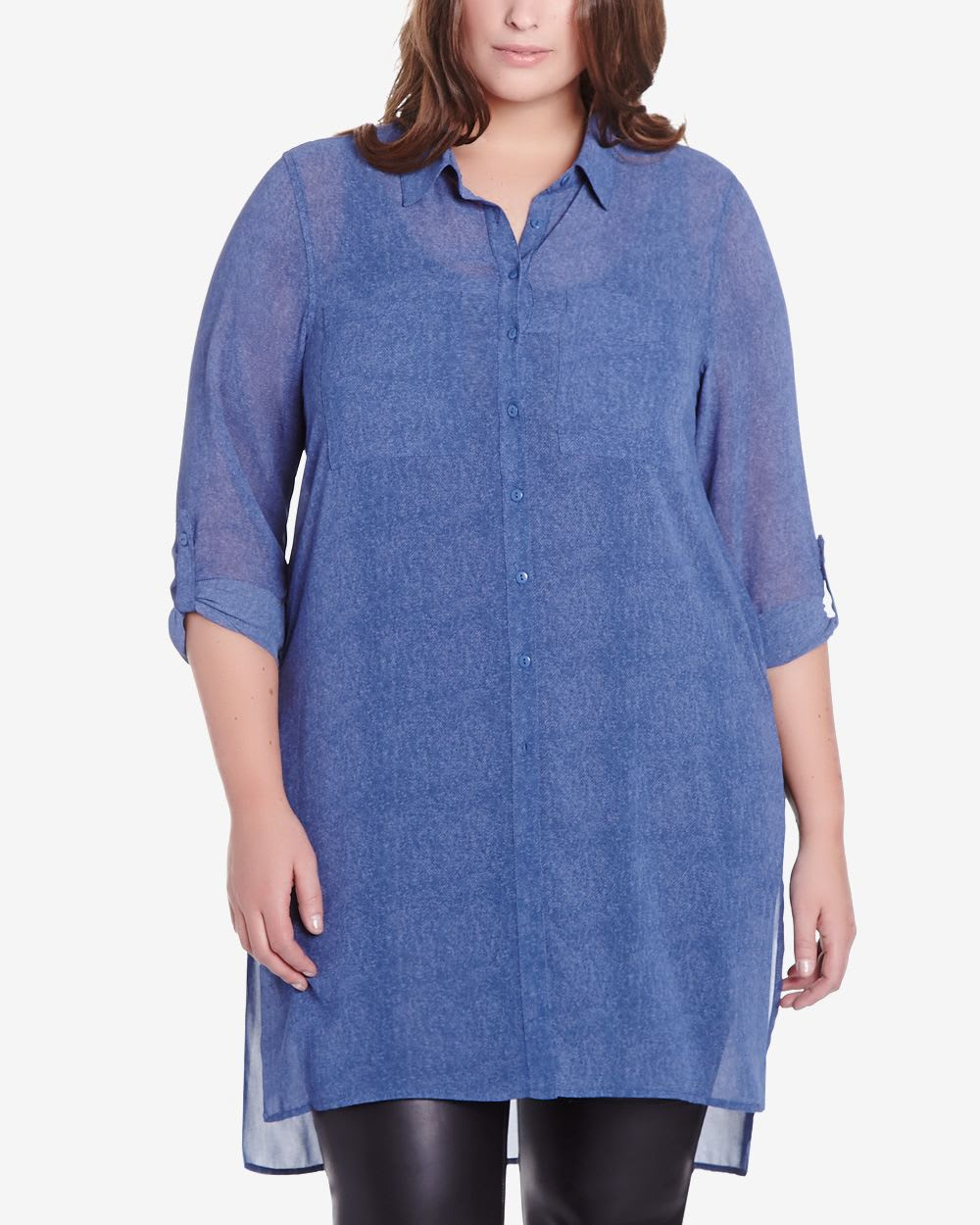 df033d691b231 Plus Size Long Sleeve Tunic Blouse