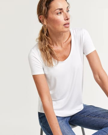 Short Sleeve Scoop Neck Tee R Essentials