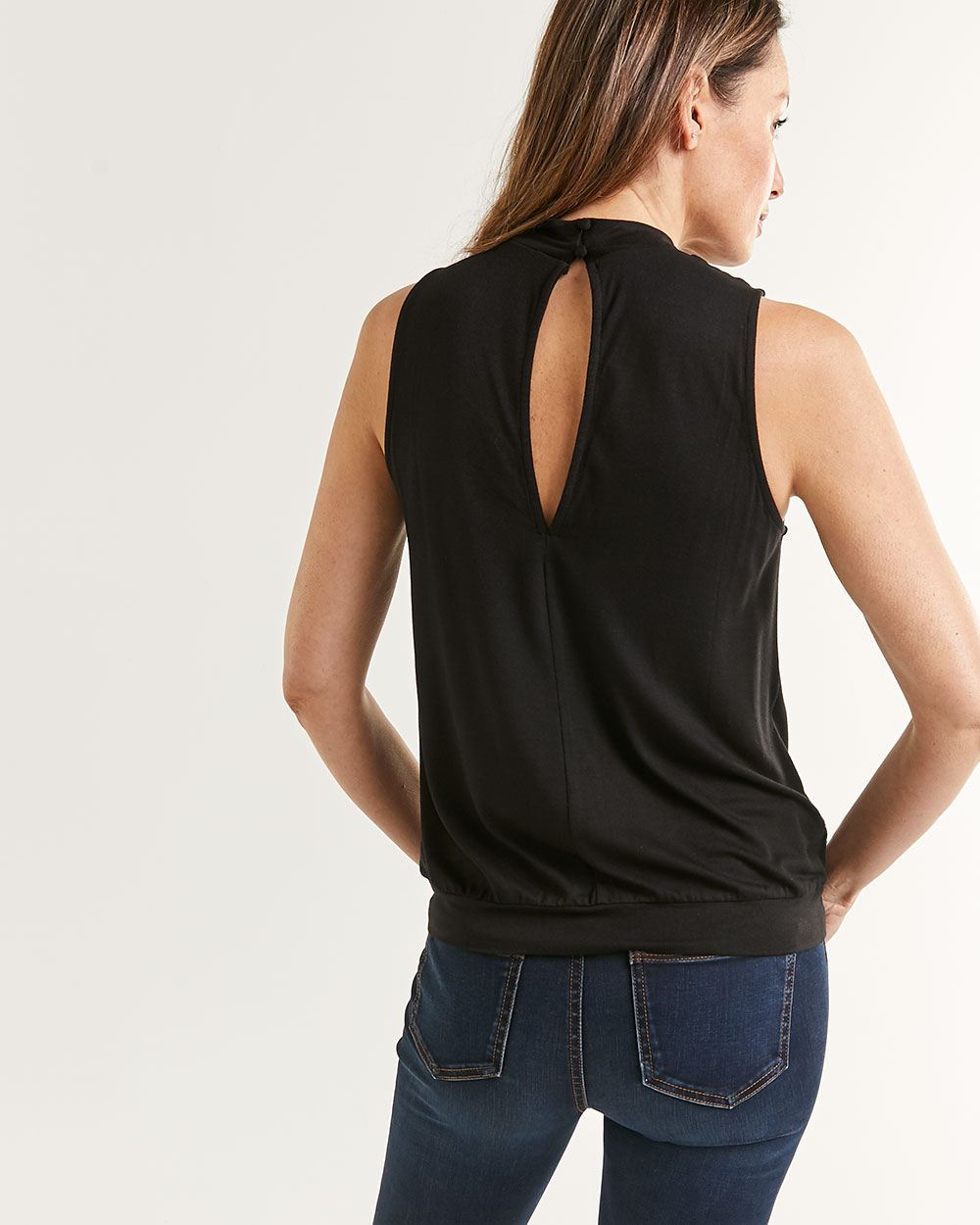 Halter Mock Neck Top