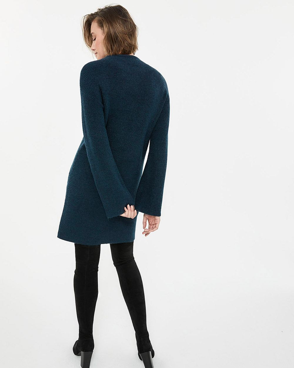 Funnel Neck Dress with Pockets