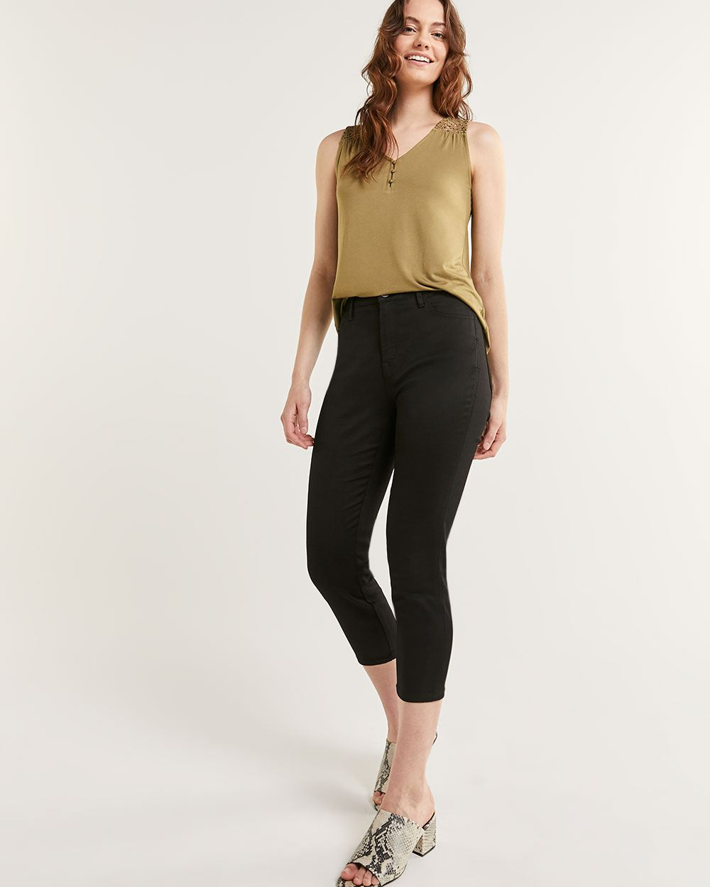 High Rise Cropped Skinny Jeans Signature Soft - Petite
