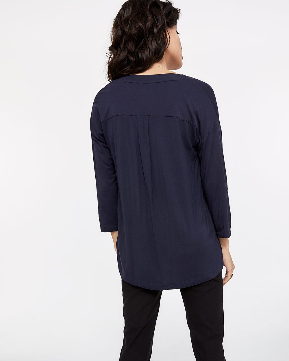 Drop Shoulder Open Cardigan
