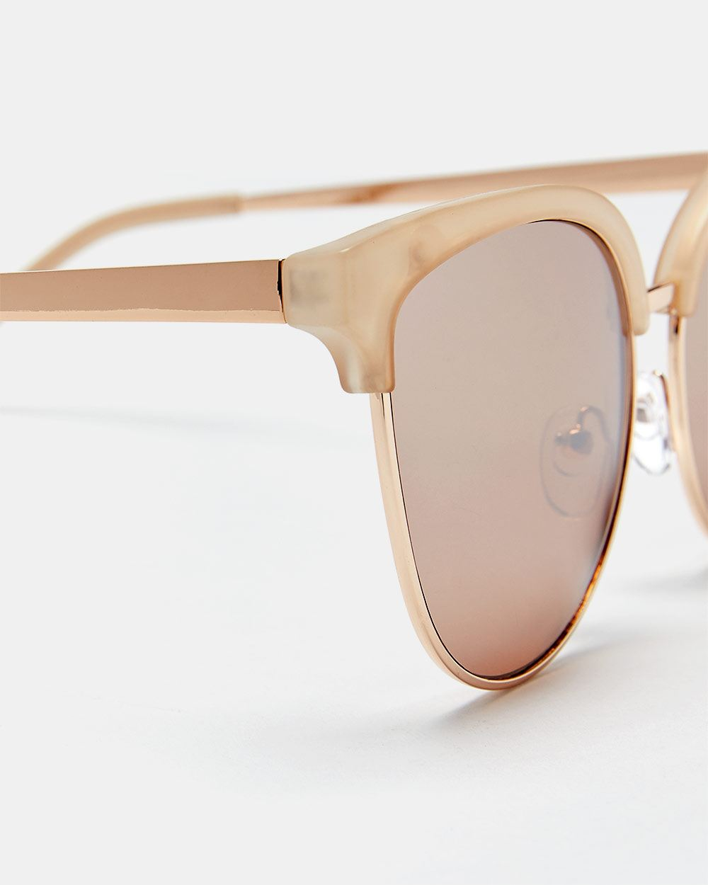 Rose Gold Clubmaster Sunglasses