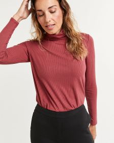 Long Sleeve Turtleneck Ribbed Tee R Essentials