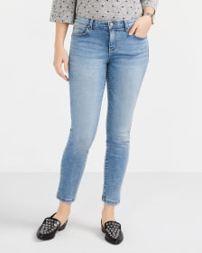 The Skinny Light Wash Sculpting Ankle Jeans