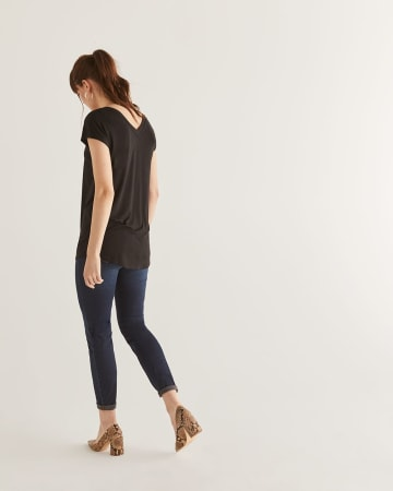 Black Tunic Length Tee