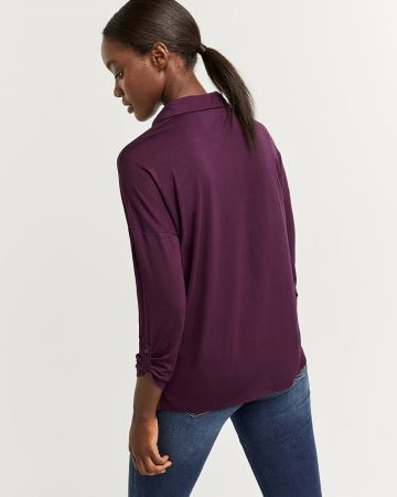 Polo Neck Long Sleeve Tee