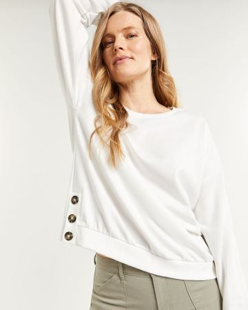 Sweatshirt with Side Buttons