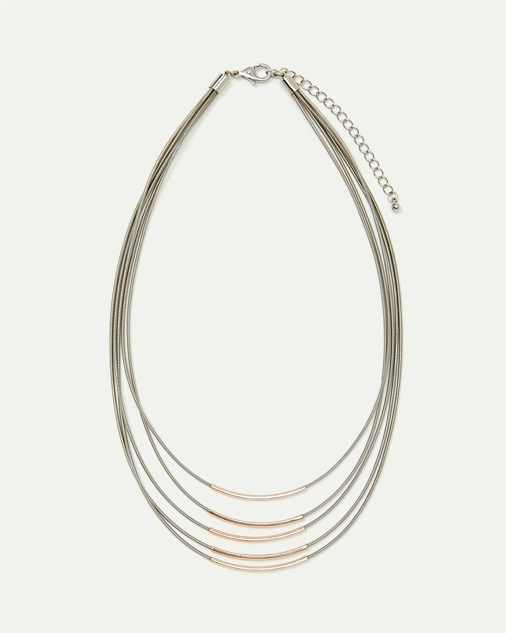 5-Layer Two-Tone Necklace