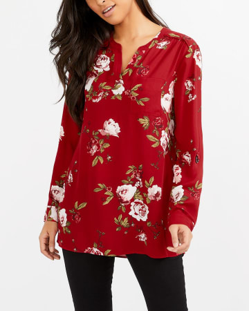 High-Low Hem Printed Tunic Top