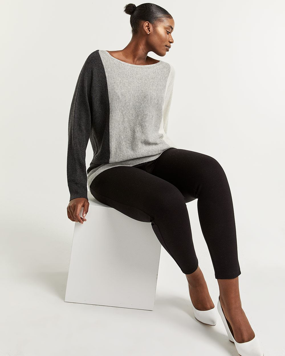 Colorblock Dolman Sleeve Sweater