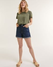 Dark Wash Denim Shorts The Curvy