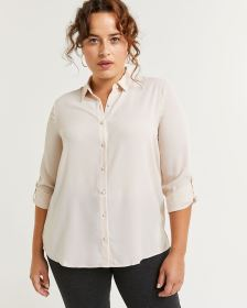 Long Sleeve Shirt Collar Blouse
