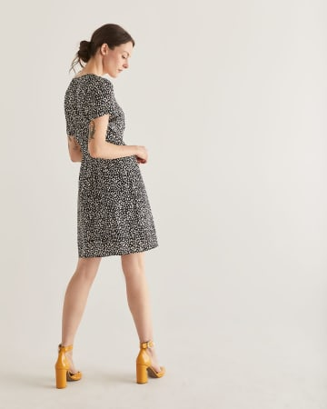 Printed Shirt Dress with Sash