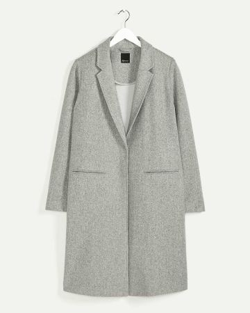 Unlined Boucle Overcoat