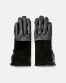 Leather & Suede Gloves with Zip