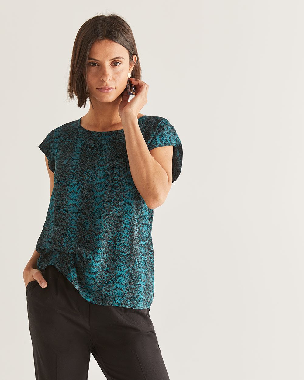R Essentials Printed Blouse