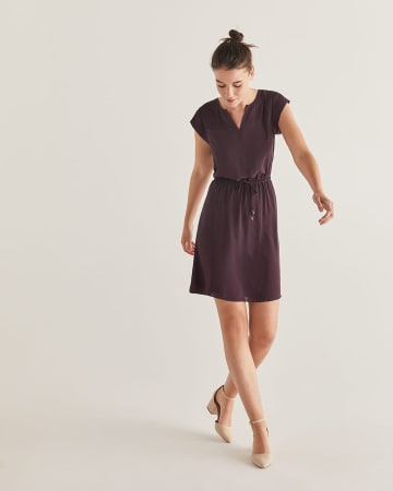 b72d01bfda9d Fit & Flare Elastic Waist Dress