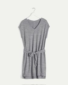 Striped French Terry Dress with Belt Hyba