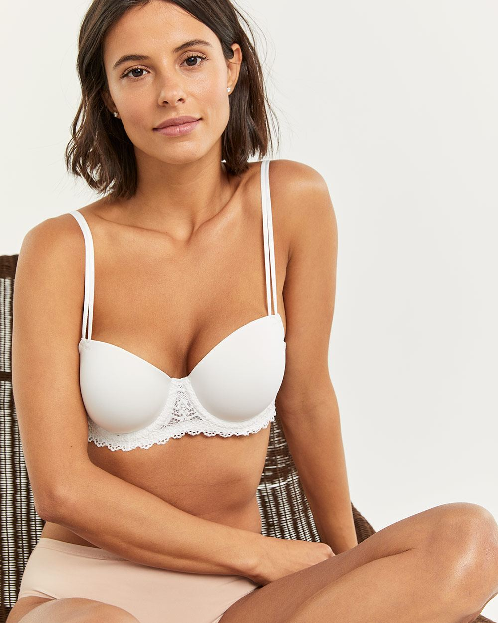 Balconette Bra with Lace