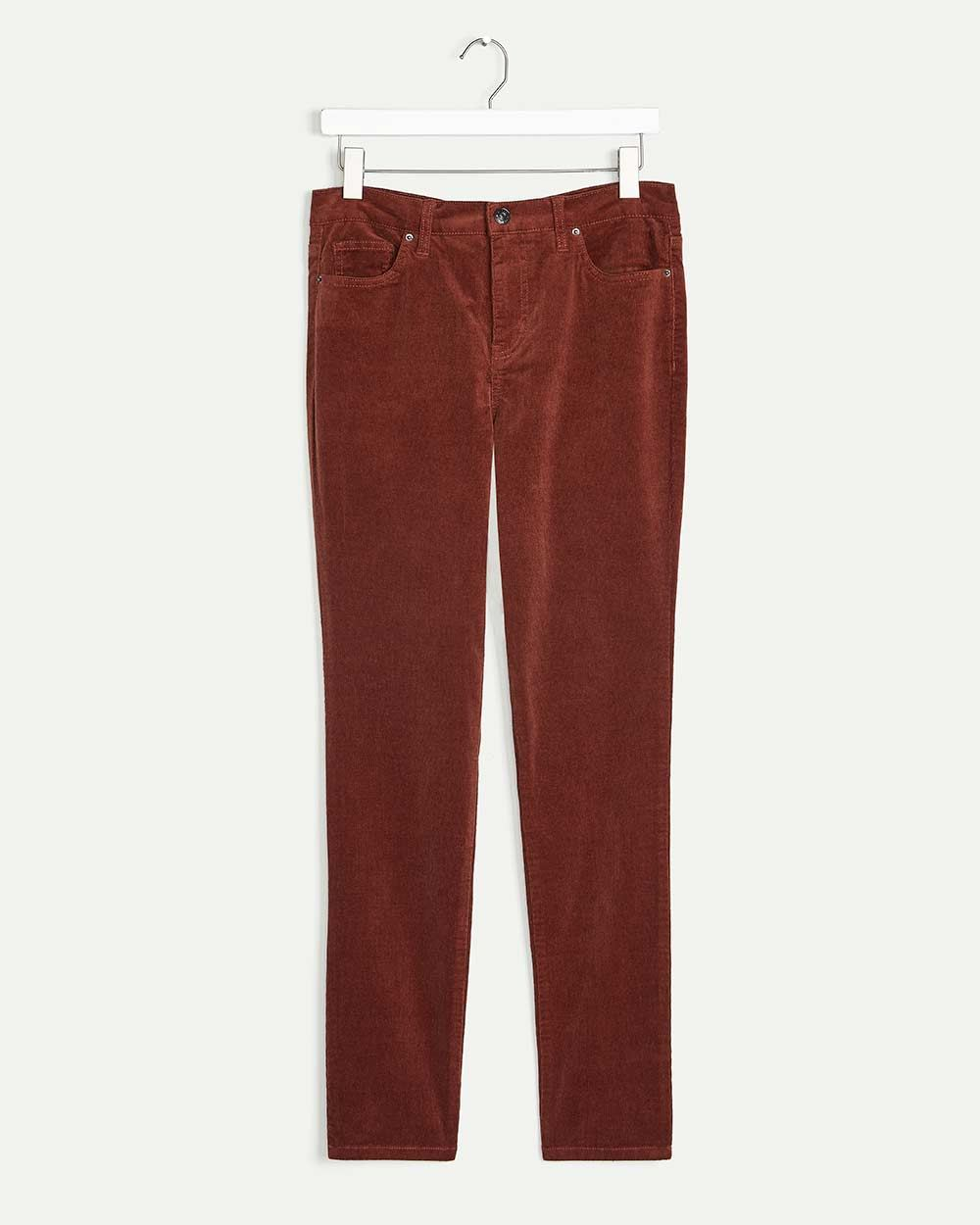 High Rise Corduroy Skinny Pants