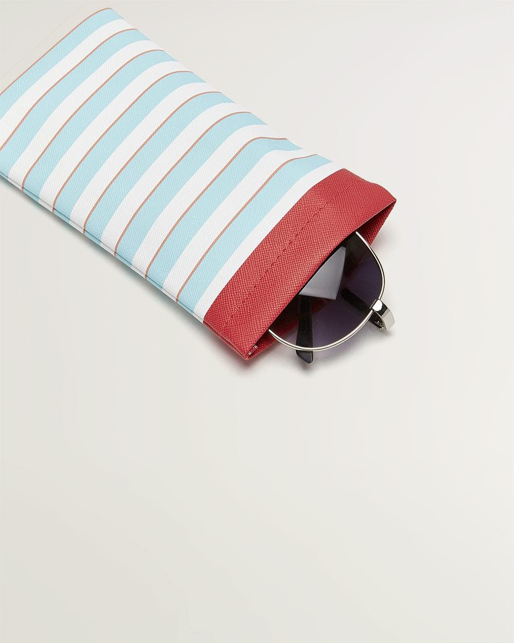Multi Stripes Sunglasses Case